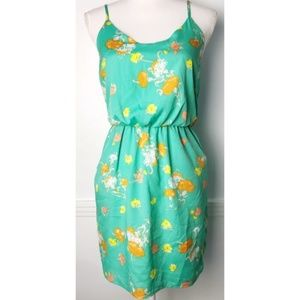 Lush • Mint Green and Yellow Floral Dress